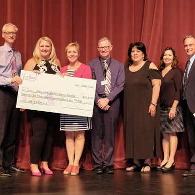 Festival Napa Valley Awards $300,000 to Schools and Arts Organizations